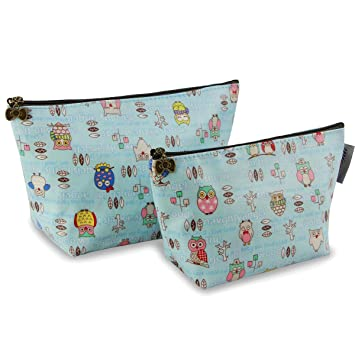 41477ef9810a Amazon.com   Cosmetic Bag Set for Women Makeup Pouch Cute Travel Organizer  Bag