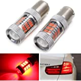 Strobe//Flashing Feature Red 10-SMD H21W LED Replacement Bulbs Compatible With 2012-2015 BMW F30 3 Series 2 iJDMTOY 2014-2017 F32 4 Series Rear Brake Lights