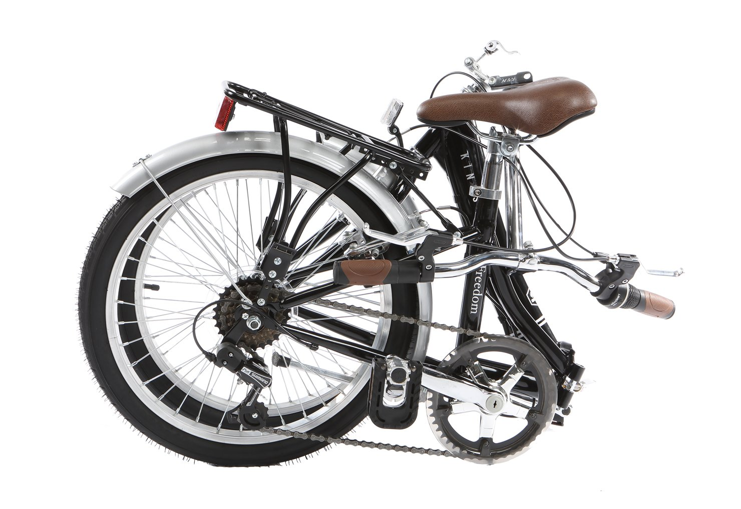 Kingston Freedom - Bicicleta Plegable, Aluminio, Negro: Amazon.es: Deportes y aire libre