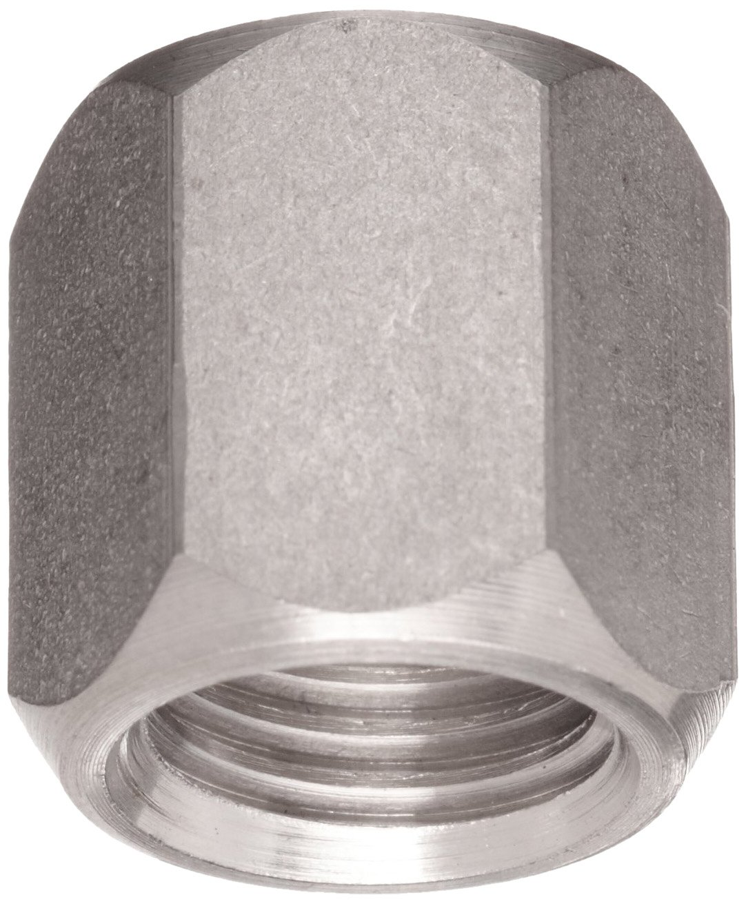 "Brennan 0304-C-06-SS, Stainless Steel JIC Tube Fitting, Cap Nut, 3/8"" Tube OD"