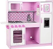 Melissa & Doug Chef's Kitchen, Pretend Play Set, Cupcake (Easy to Assemble, Durable Wooden Construction, Multiple Working Par