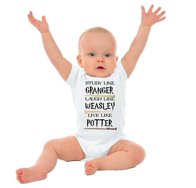 Brisco Brands Study Granger Laugh Weasley Live Potter Funny Shirt Romper Bodysuit