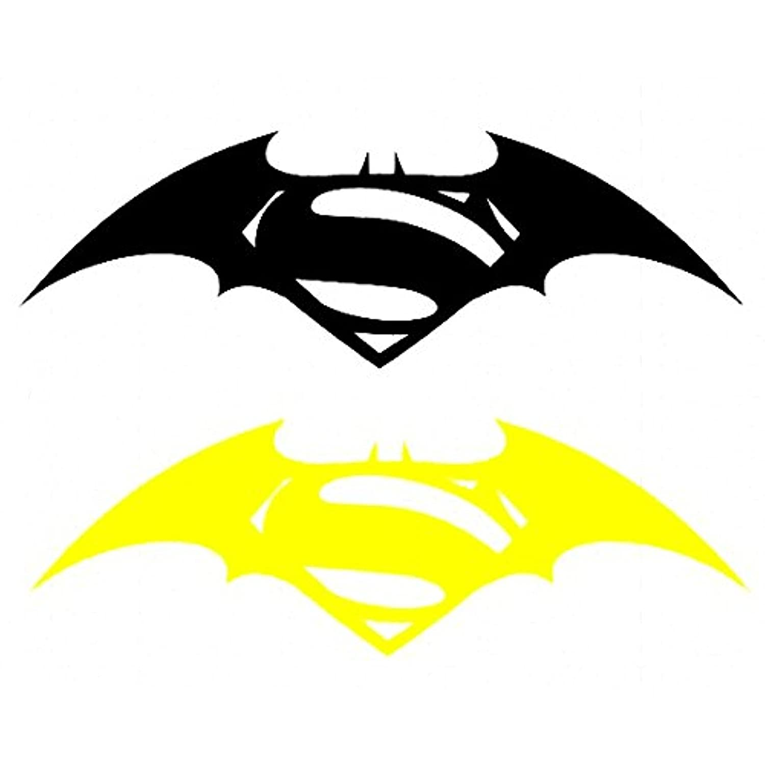 Graphic club batman superman auto hood bumper front sides bike stickers yellow black pack of 2 amazon in home kitchen
