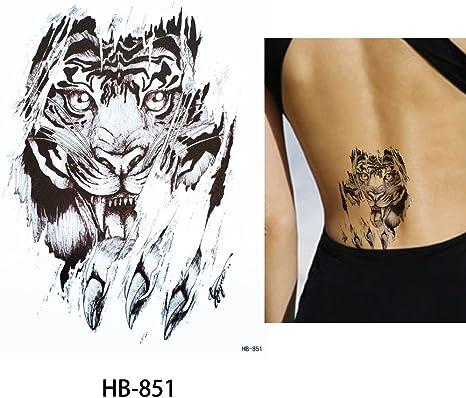 Tiger Tattoo Negro brazo Brazo tatuaje falso Tattoo Hb851: Amazon ...