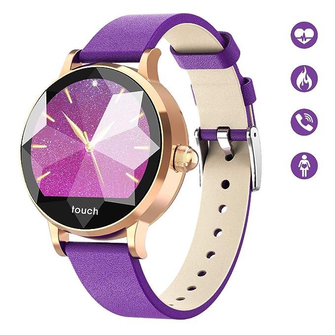 HopoFit HF01 Fitness Tracker HR,Banda de Monitor de Presión Arterial,Reloj Inteligente con Frecuencia Cardíaca,Impermeable,Podómetro,Calorías,Menstrual,Actividad Tracker Mujeres,iOS y Android