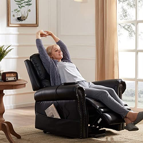 Restar Leather Recliner Chair Adjustable Home Theater Single Recliner Sofa Furniture