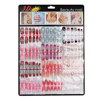 fheaven 144 piezas Mixed Set postizas artificial falsa uñas Gel acrílico manicura