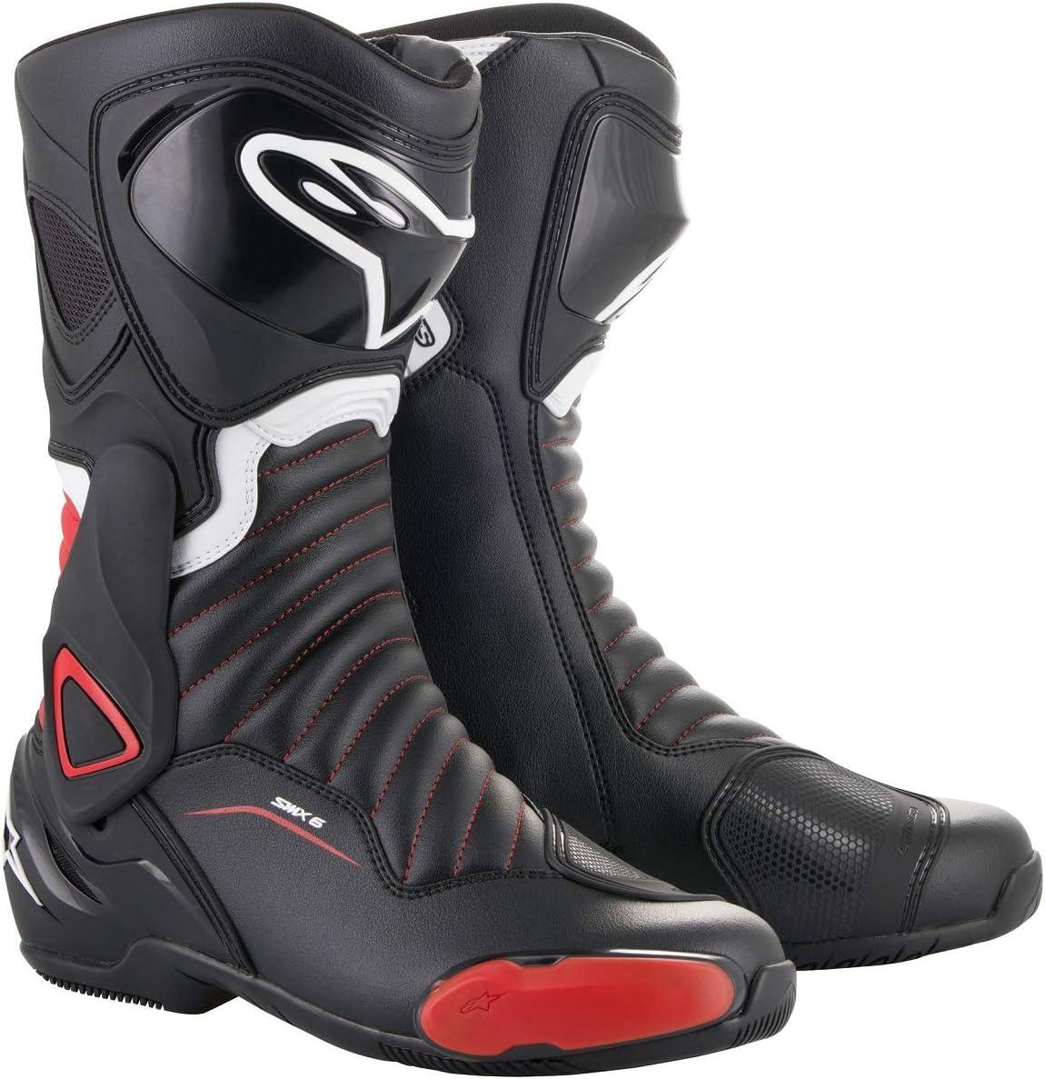45 EU, Black Red SMX-6 v2 Motorcycle Boot