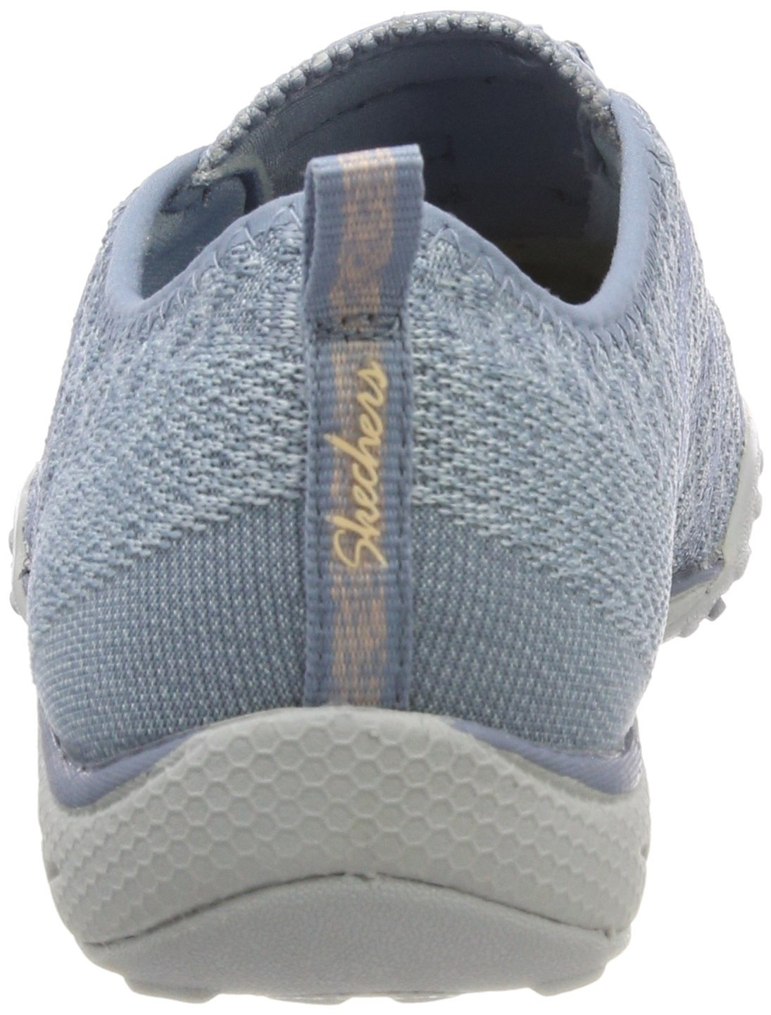Skechers Relaxed Fit Breathe Easy Fortune Knit Womens Bungee Sneakers Blue 8 by Skechers (Image #2)