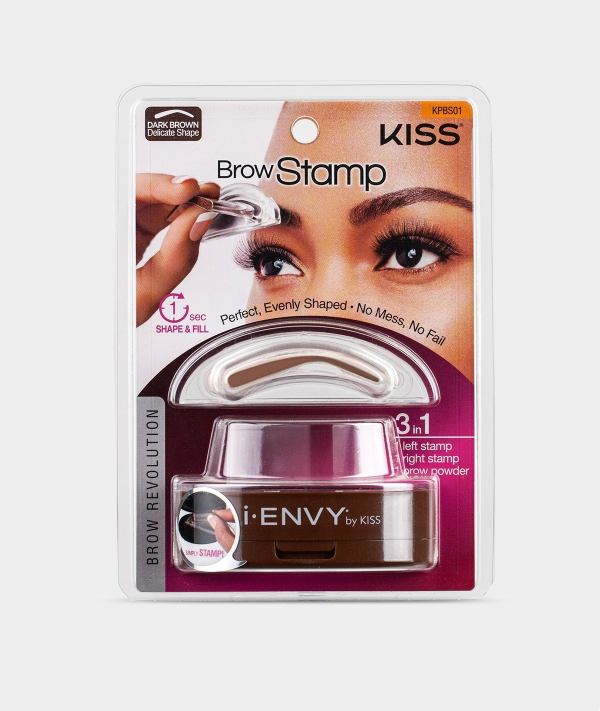 Amazon Kiss I Envy Brow Stamp Kit Dark Brown Makeup 1 Count Beauty