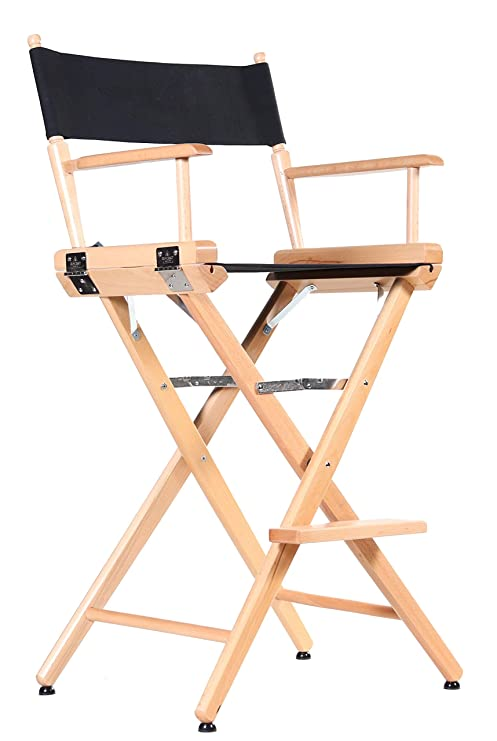 Incredible Professional Grade Studio Directors Chairs 30 Bar Height Natural Finish Black Canvas Caraccident5 Cool Chair Designs And Ideas Caraccident5Info