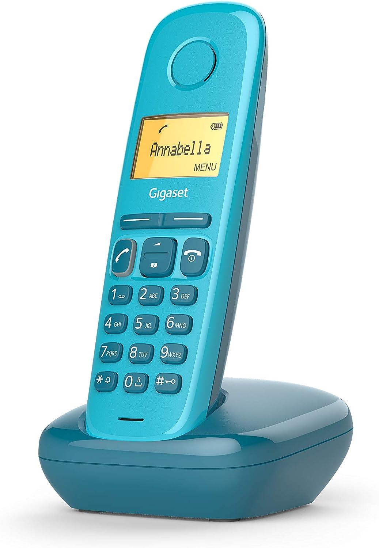Gigaset A170 - Teléfono Inalámbrico, Pantalla Iluminada, Agenda de 50 Contactos, Color Azul: Amazon.es: Electrónica
