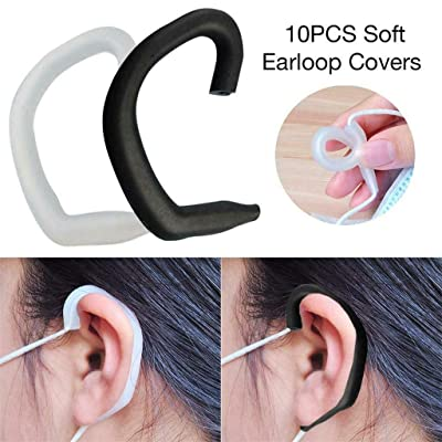 (in Stock) Blingdots Handmade String for Sewing DIY, 10Pcs Soft Silicone Ear Hook Loop Clip for Hook Ear Protection Hook, Comfortable Ear Tie Rope : Sports & Outdoors