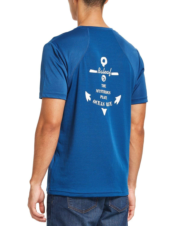 BALEAF Men's Fishing Shirt UPF 50+ Sun Protection Long Sleeve Performance T-Shirt Ocean Blue M by BALEAF