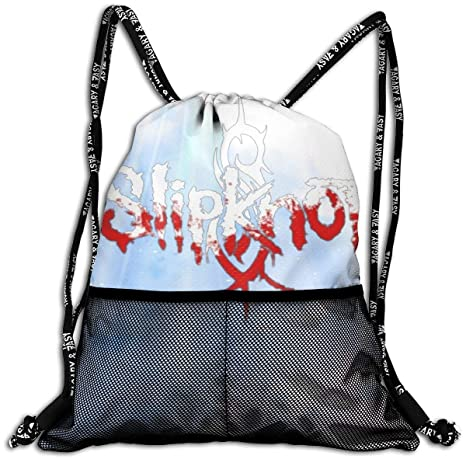 3cfc9ce3a256 JOHNATHANGRIFFIN Slipknot Drawstring Backpack Bag Man Women Sport Gym Sack