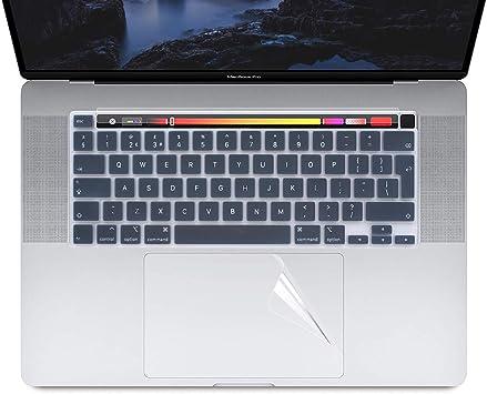 Masino® Funda de teclado de silicona y 1 almohadilla de seguimiento y protector de barra táctil para MacBook Pro de 16 pulgadas con barra táctil y ...