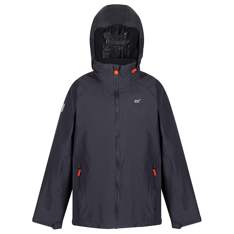 Regatta Childrens Gabiel Waterproof Mesh Lined Hooded Outdoor Jacket