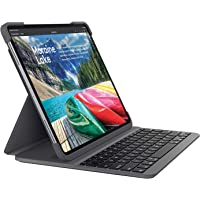 Logitech SLIM FOLIO PRO, backlit Bluetooth keyboard case 對開式 黑色920-009148 Slim Folio PRO 12.9 Inch(English Layout 英語版本 QWERTY布局)
