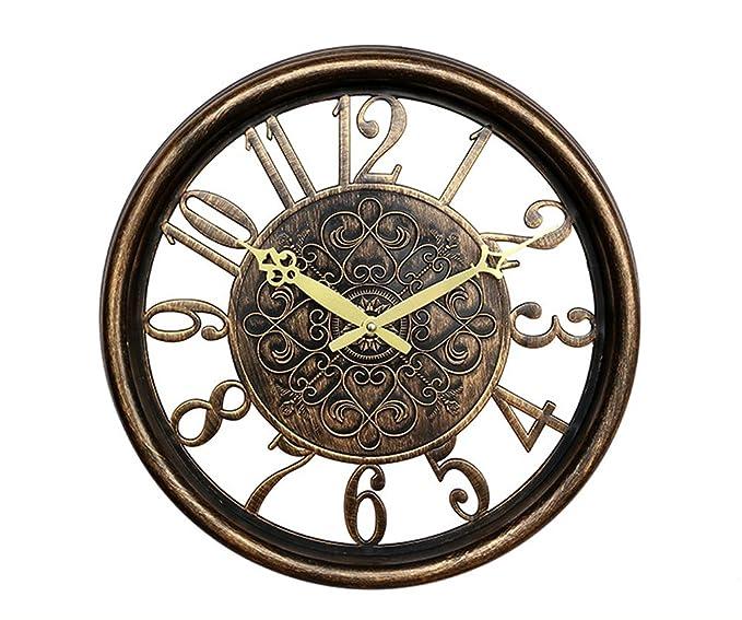Amazon.com: YOURNELO Retro Copper Silent Wall Clock for Home Decoration: Home & Kitchen