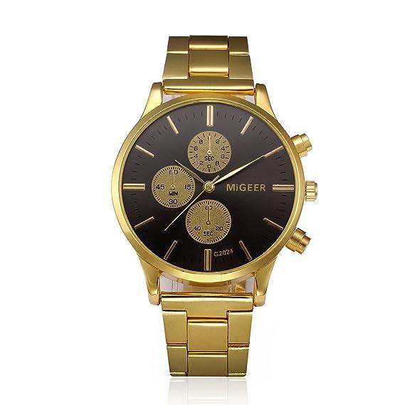weant Reloj Oro Sport Reloj para Hombre y Mujer Watch Fit Reloj de Pulsera Militar Analógico