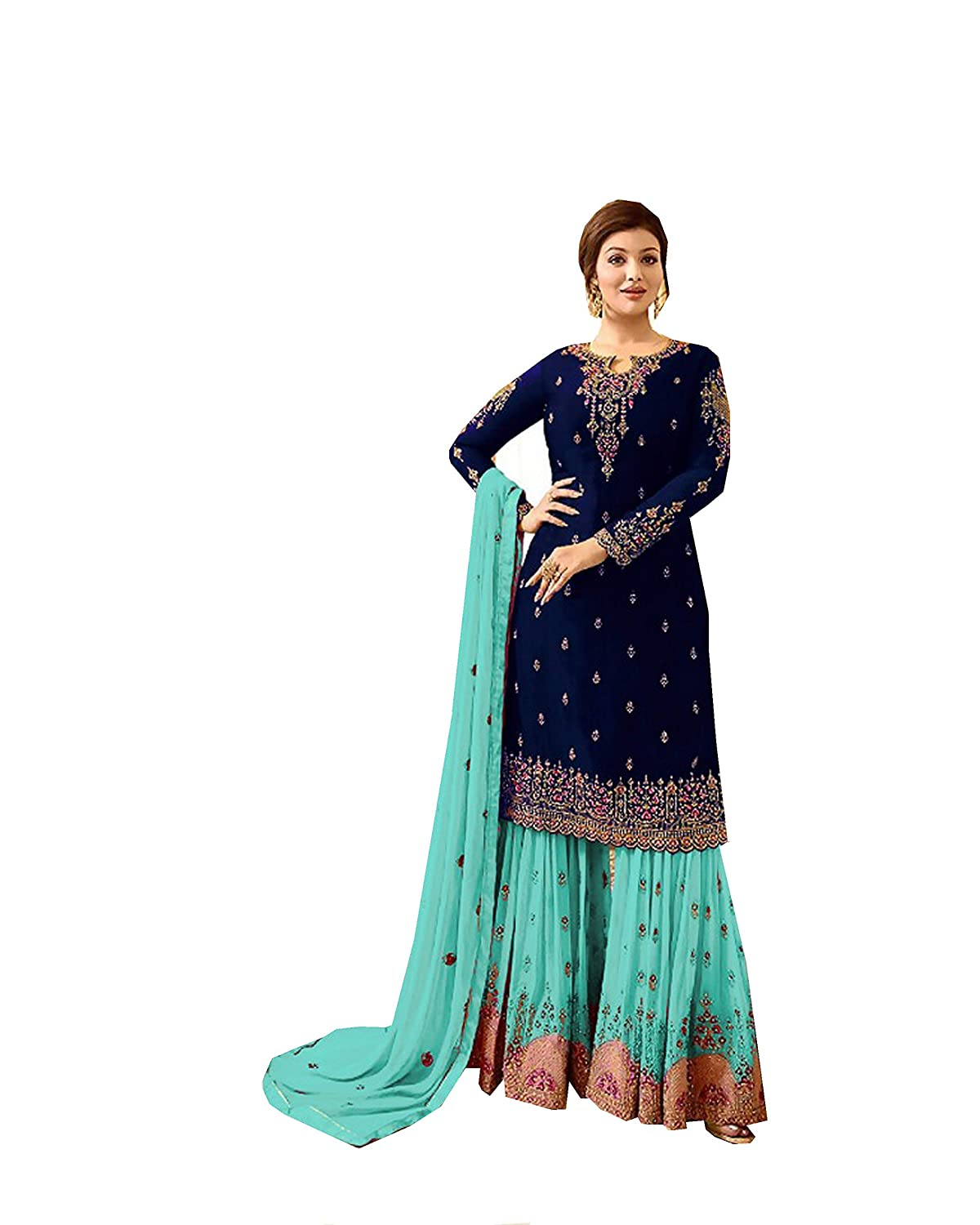 Delisa Indian/Pakistani Sharara Style Salwar Suit for Women Fiona