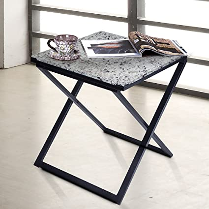 Amazon.com: PrimaSleep 22\'\'H Modern Natural Granite Top X-Steel ...