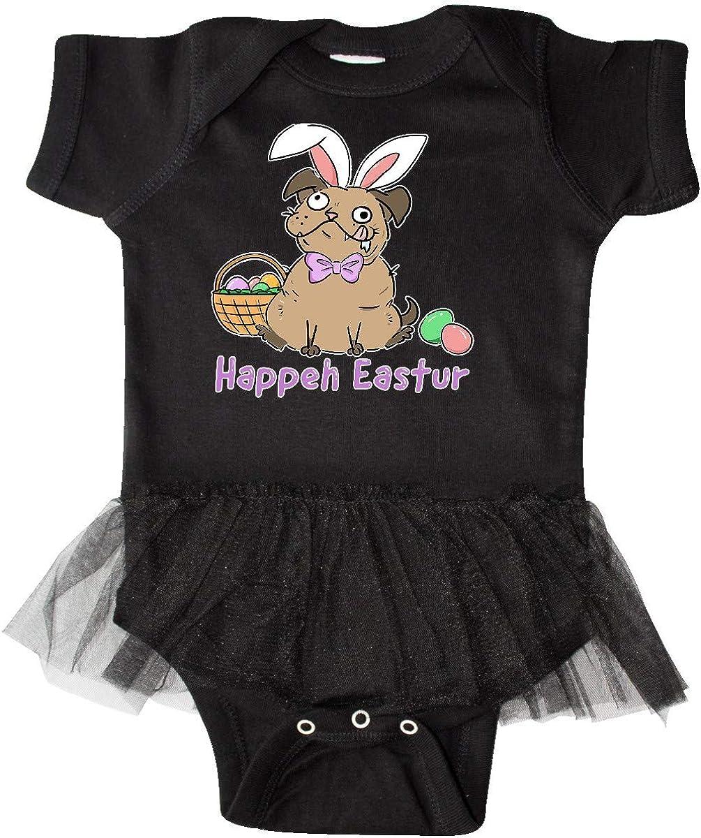 inktastic Easter Happeh Eastur Goofy Dog in Bunny Ears Infant Tutu Bodysuit