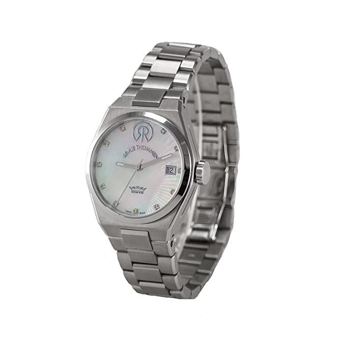 Amazon.com: URBAN Lady with Diamonds - Lifestyle - Automatic 3 Hands Date 36mm with Steel bracelet: Watches