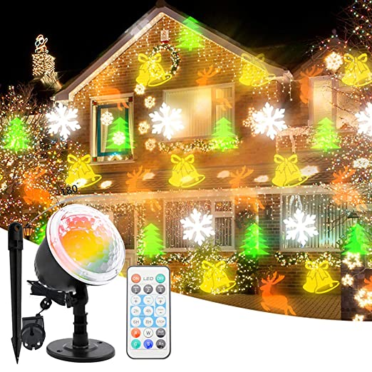 ALLOMN Luz Proyector Navidad, LED Paisaje Navidad Halloween ...