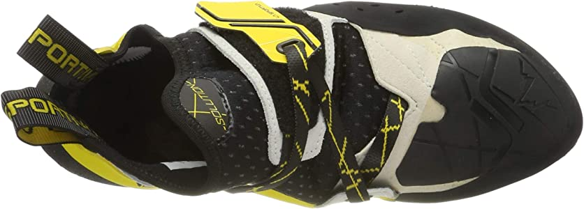 La Sportiva Solution White//Yellow Zapatos de Escalada Unisex Ni/ños