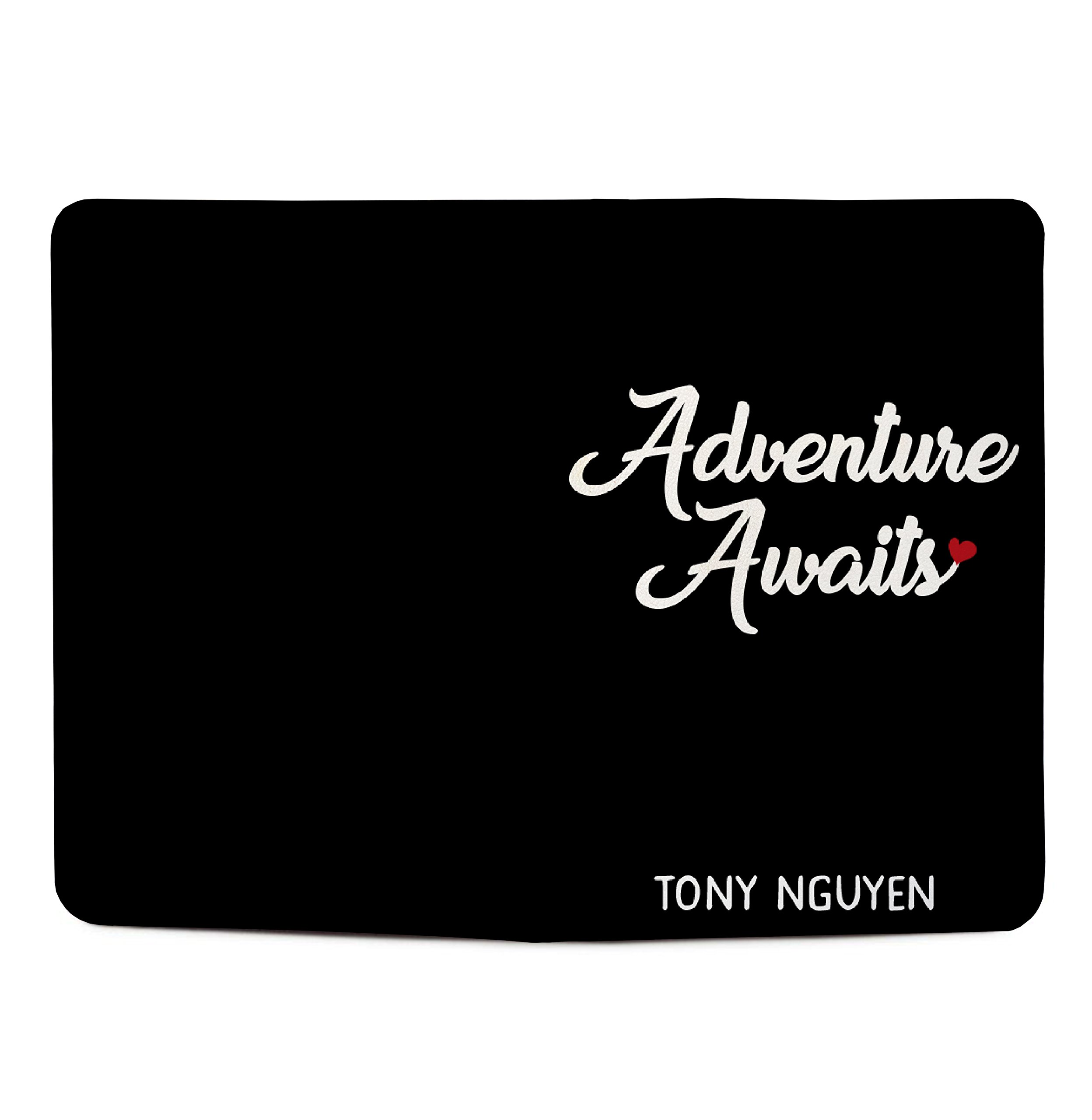 Adventure Awaits - Couple Passport Holder Personalized Passport Cover Set of 2 by With Love From Julie (Image #3)