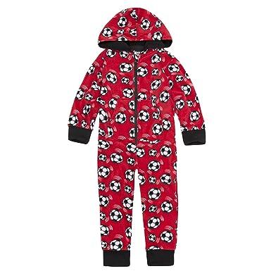 3c34d8af71321 ONEZEE Enfants Polaire Garçon Combinaison (Tailles 2-6 Ans) à Capuche  Football Pyjama  Amazon.fr  Vêtements et accessoires