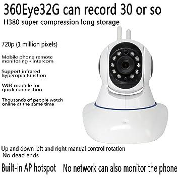 Cámara IP de Seguridad, IR Nocturna Wifi Vigilancia Seguridad, 720P HD Interior P2P Camera
