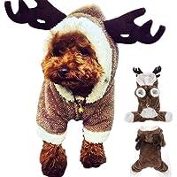 DOXMAL Disfraz de Mascota de Navidad,Traje de Perro