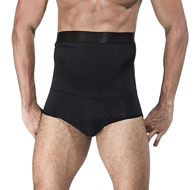 f1595dfcadf2d Amazon.com  Panegy Men Shaper Boxer Briefs Hi-Wasit Tummy Control Slimming  Shapewear  Clothing