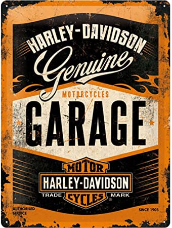 Nostalgic Art Retro Tin Sign Harley Davidson Garage Gift Idea For Motorcycle Fans Metal Plaque Vintage Design For Wall Decoration 15 X 20 Cm Amazon Co Uk Kitchen Home,Design Your Own Cattle Brand