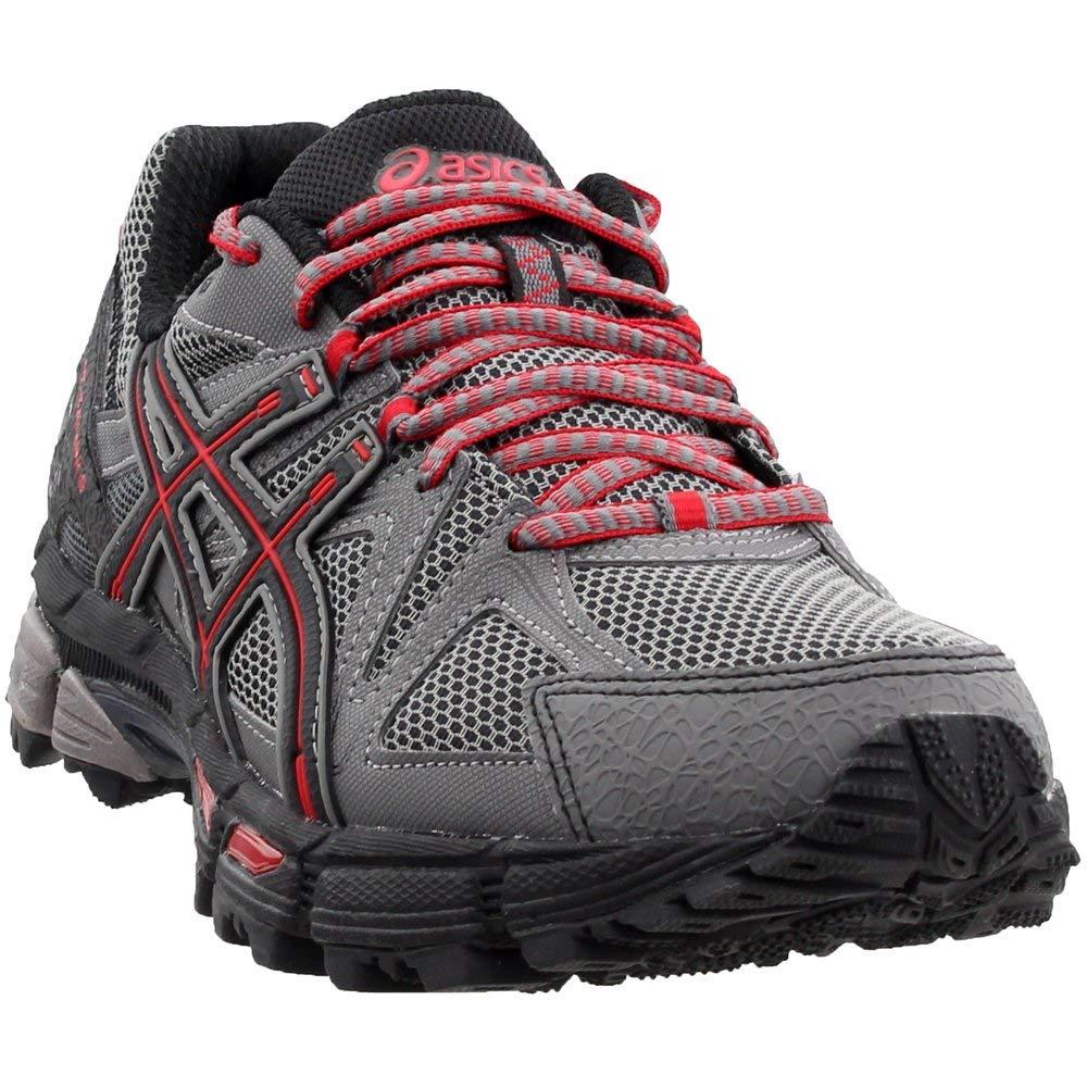 ASICS Men's Gel-Kahana 8 Trail Runner, Shark/Black/True Red, 6.5 M US