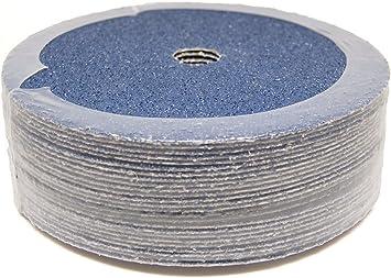 """50 Pack 7/"""" Zirconia Resin Fiber Disc 36 Grit 7 inch Grinding /& Sanding Discs"""
