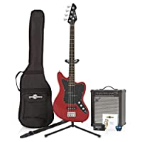 Seattle Bass Guitar + 35W Amp Pack Gala Red