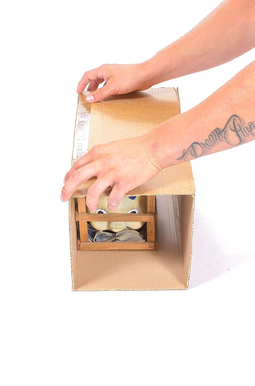 Varie piccole dimensioni fai da te diy 5 10 15 20 cm misure 10 fogli bianchi JustFoldMe Fogli di cartone perforati per scatole di cartone per spedizione imballaggio imballi spedizioni postali
