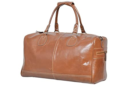ce337c48ce Image Unavailable. Image not available for. Colour  Large Tan Real Premium  Leather Holdall Duffle Travel Sports Gym Designer Weekend Bag