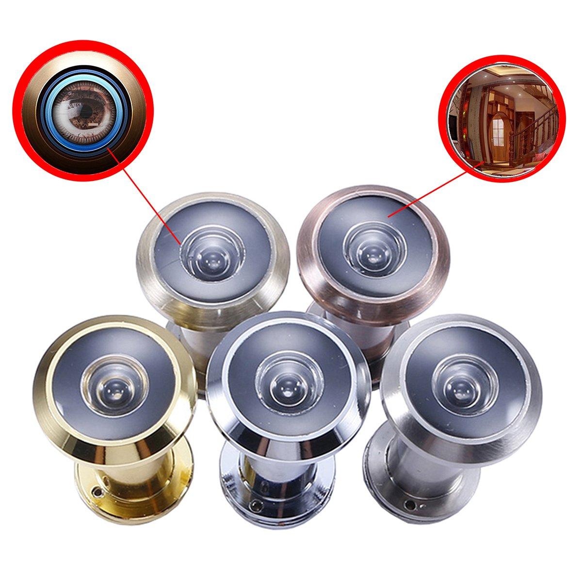 Judas de Porte avec le Cache pour Sécurité - 220 Dégrés l'angle de Vision, Diamètre 16mm, pour l'épais de Porte 35-60mm Diamètre 16mm pour l'épais de Porte 35-60mm YUNEED