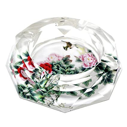 """Flower Child Colored 4.5/"""" Glass Ash Tray"""