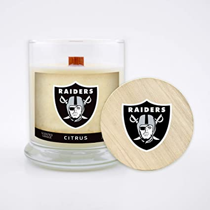 Wood Wick Worthy Promotional NFL Chicago Bears Linen Scented 6 oz Soy Wax Candle
