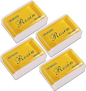 Rosin Violin Rosin Natural Rosin 4 Pack Low Dust Universal Rosin for Violin Viola and Cello (4 Pack Rosin)