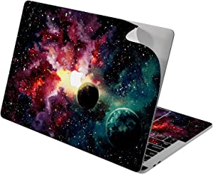 "Cavka Vinyl Decal Skin for Apple MacBook Pro 13"" 2019 15"" 2018 Air 13"" 2020 Retina 2015 Mac 11"" Mac 12"" Fantasy Print Watercolor Dust Stars Planets Laptop Paint Sticker Protective Design Galaxy Cover"