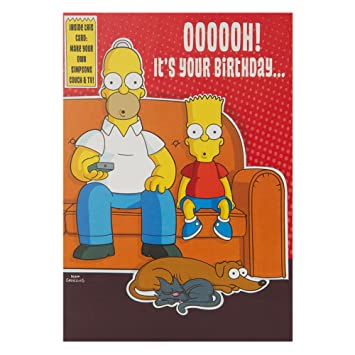 Hallmark The Simpsons Birthday Card For Him 3d Couch Potato