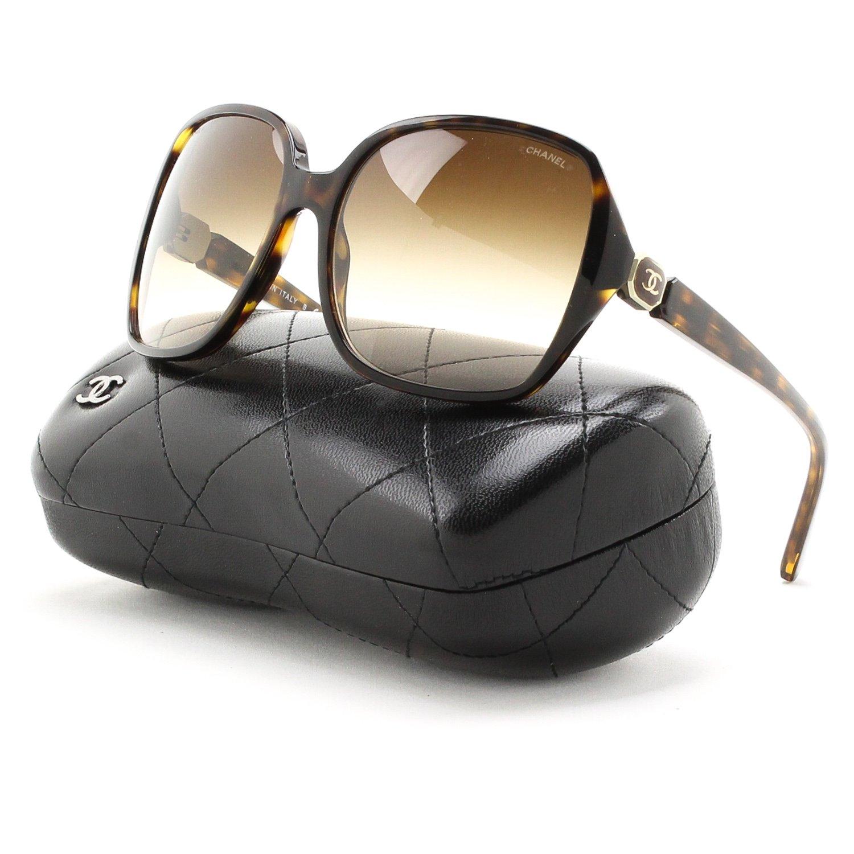 Gafas de Sol Chanel CH5284 DK HAVANA/BROWN GRADIENT: Amazon ...