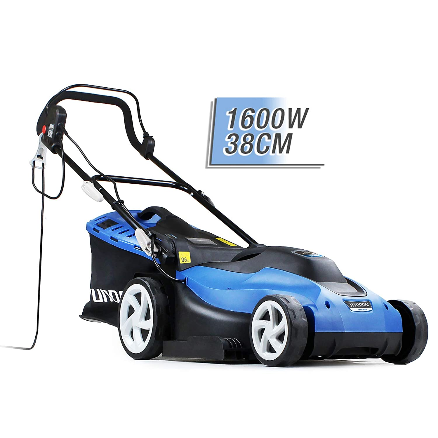 Hyundai HYM3800E Corded Electric Lawnmower 1600W 380mm/ 38cm /15