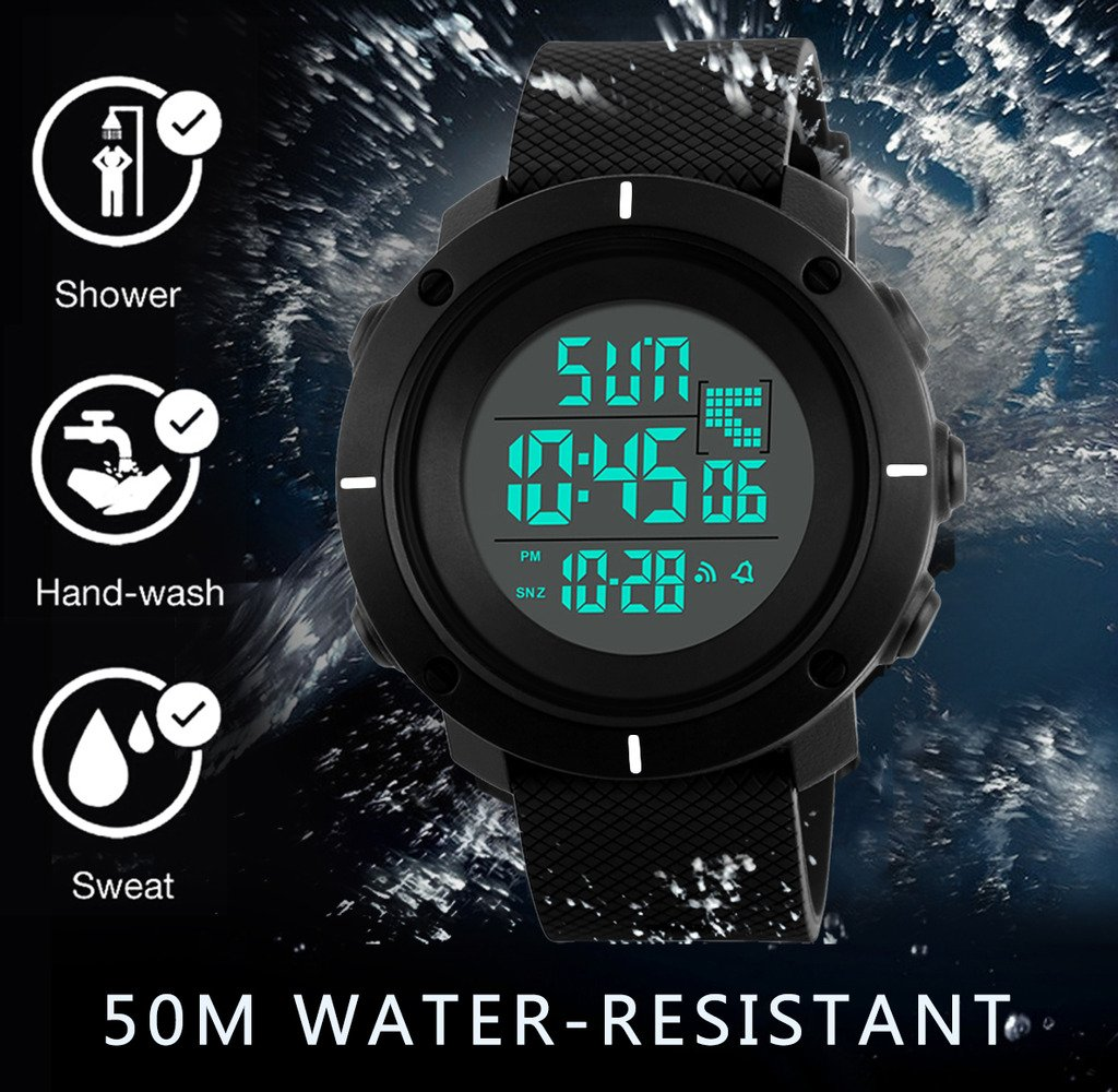 Boys Digital Watch -Kids Sports Waterproof Outdoor Watch with Alarm Stopwatch Wrist Watches for Childrens by SEEWTA (Image #5)